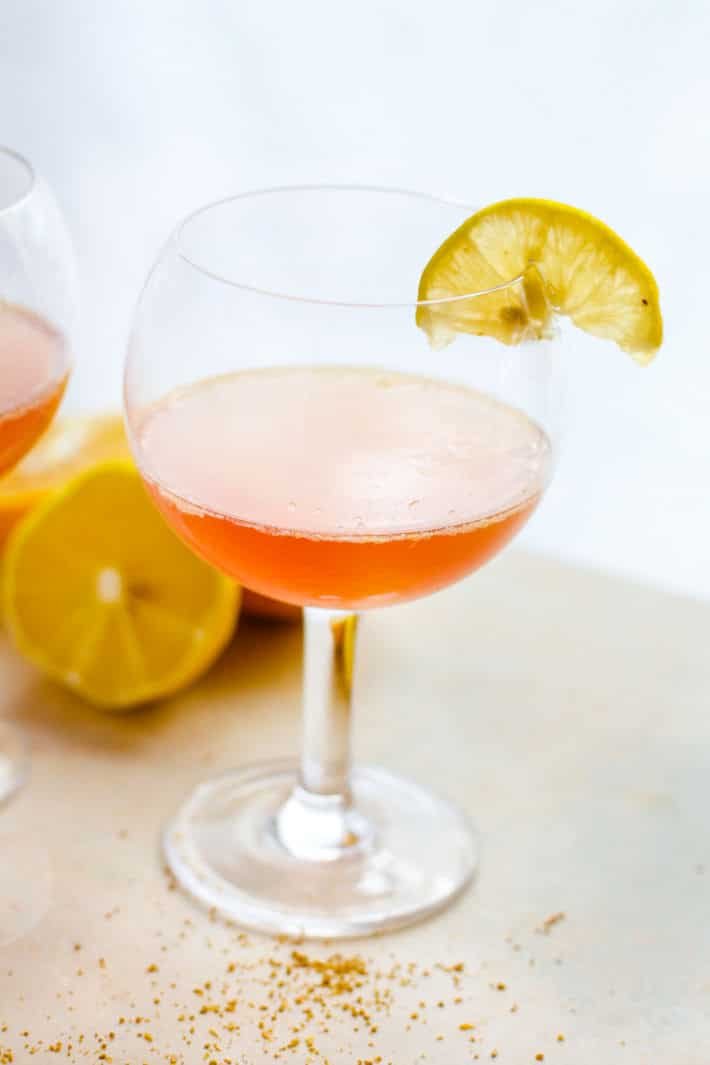 Light and Naturally Sweetened Winter Citrus Paloma Tequila Cocktail! A slightly different twist on the traditional tequila cocktail recipe with a healthy dose of Vitamin C! A perfect light cocktail for holiday brunch or parties.