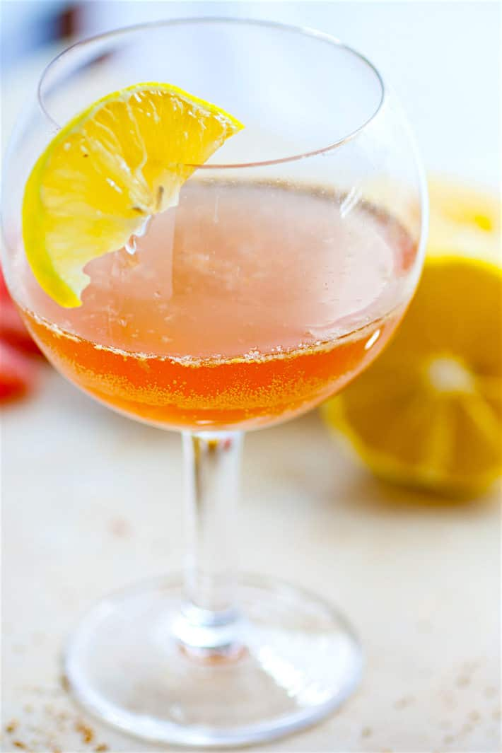 Light and Naturally Sweetened Winter Citrus Paloma Tequila Cocktail! A slightly different twist on the traditional tequila cocktail recipe with a healthy dose of Vitamin C!
