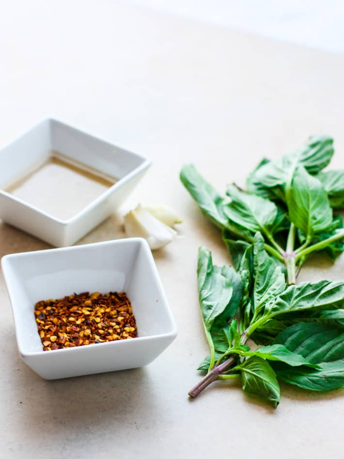thai basil pesto ingredients for dairy free pesto