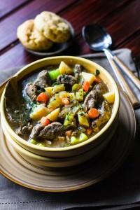 One Pot Bacon Braised Lamb Stew {Gluten Free, Paleo Friendly}