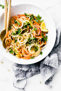 Carrot Celeriac Spiralized Salad {Vegan, Paleo}