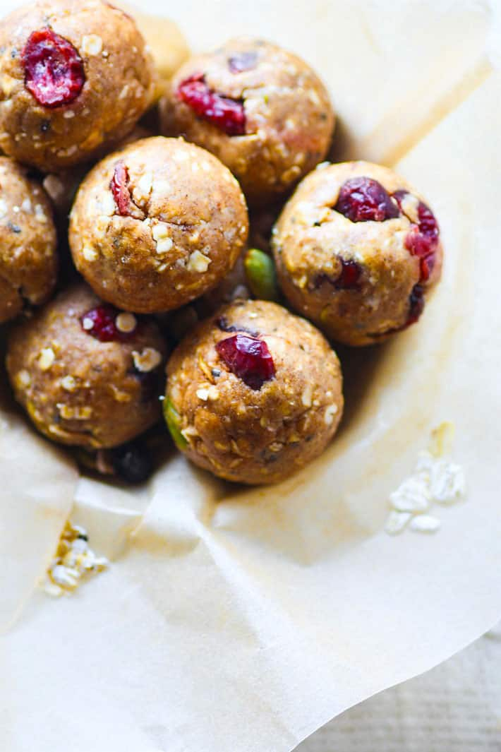 No Bake Gluten Free Muesli Energy Bites Recipe! This gluten free muesli bite recipe is super simple to make, vegan friendly, and a must make for healthy snacking. Homemade energy bites ready in no time