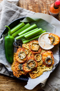 Easy Baked Jalapeno Cheese Crisps {Gluten Free, Low Carb}