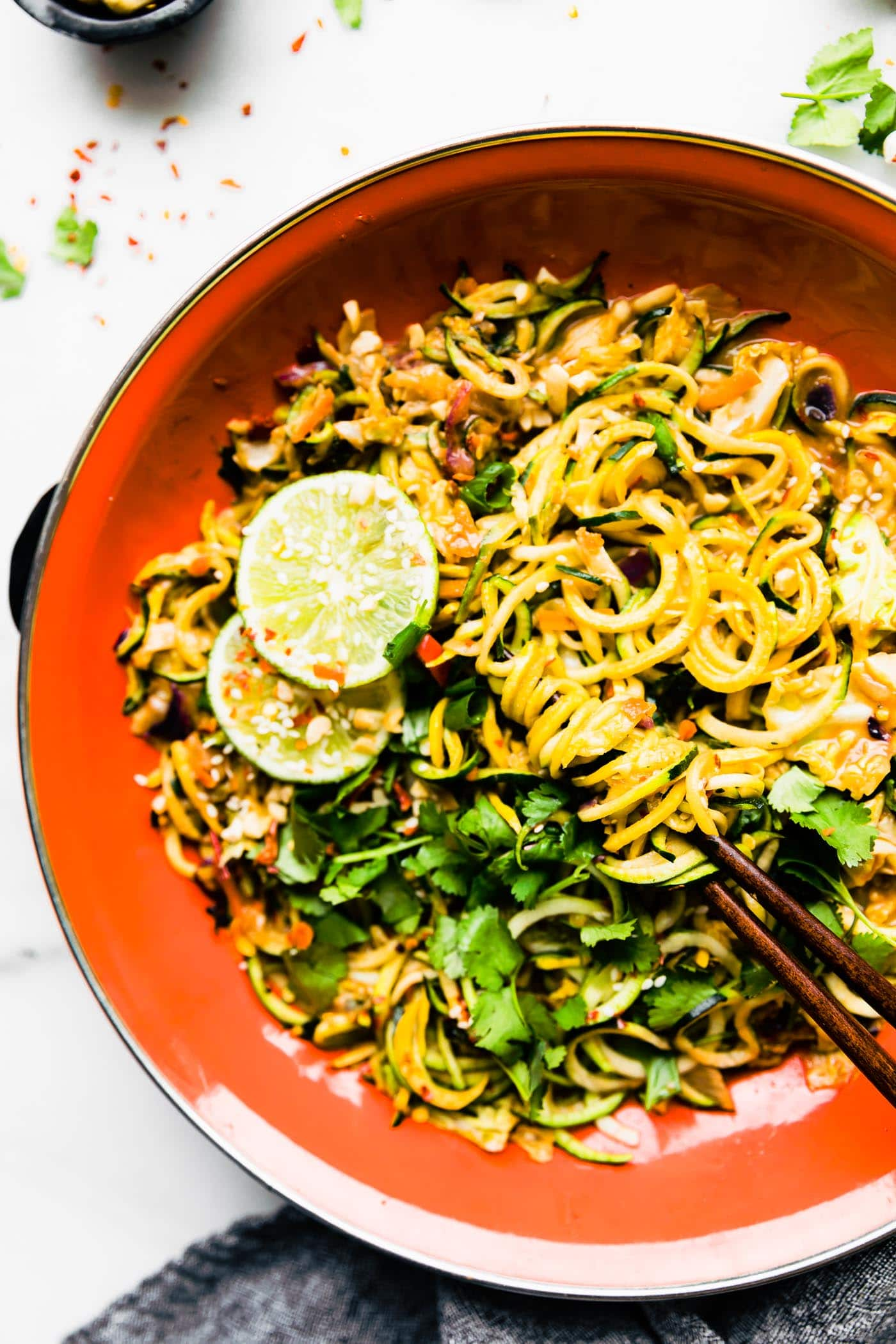 stir fry recipe made with spiralized vegetables