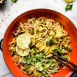 cashew satay spiralized vegetables stir fry update