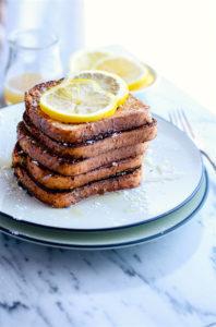 Honey Lemon Vanilla Gluten Free French Toast {Vegan Friendly}