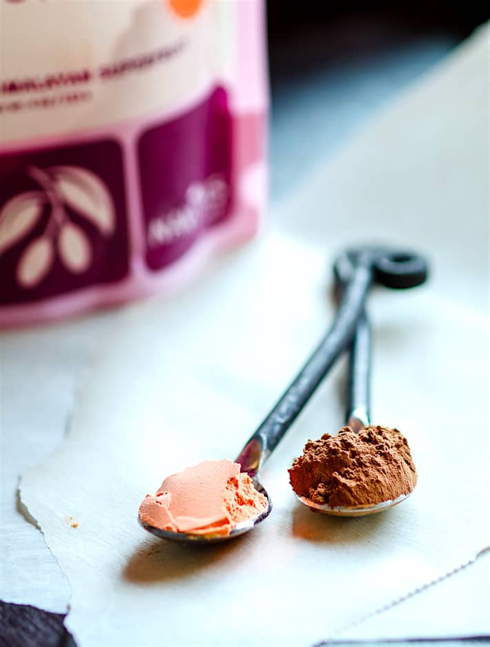 Gluten Free red velvet cake bites made with natural superfood ingredients but also super delicious!