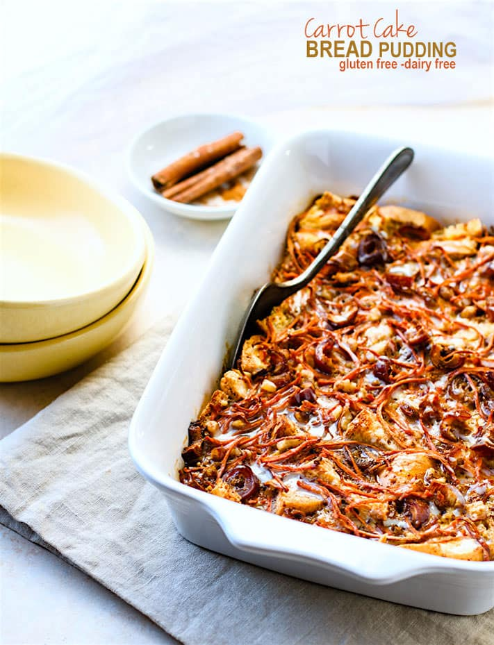 Gluten Free Carrot Cake Bread Pudding