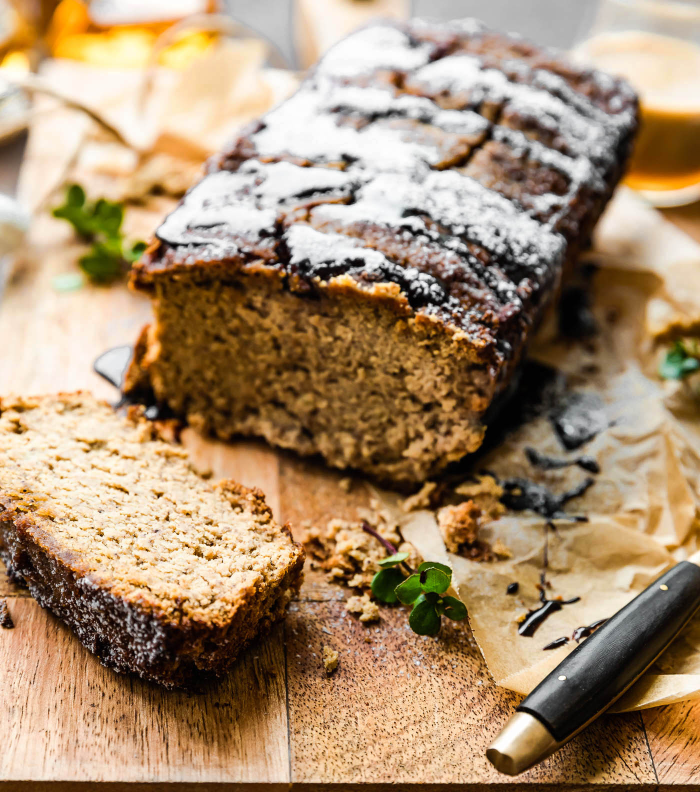 irish cream gluten free banana bread