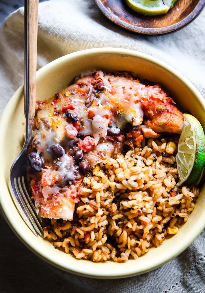 Kid Friendly Salmon Baked Bean Burrito Bowls - The Perfect Way To Introduce Salmon To Your Kids! www.superhealthykids.com