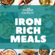 Iron Rich meal plan photo collage