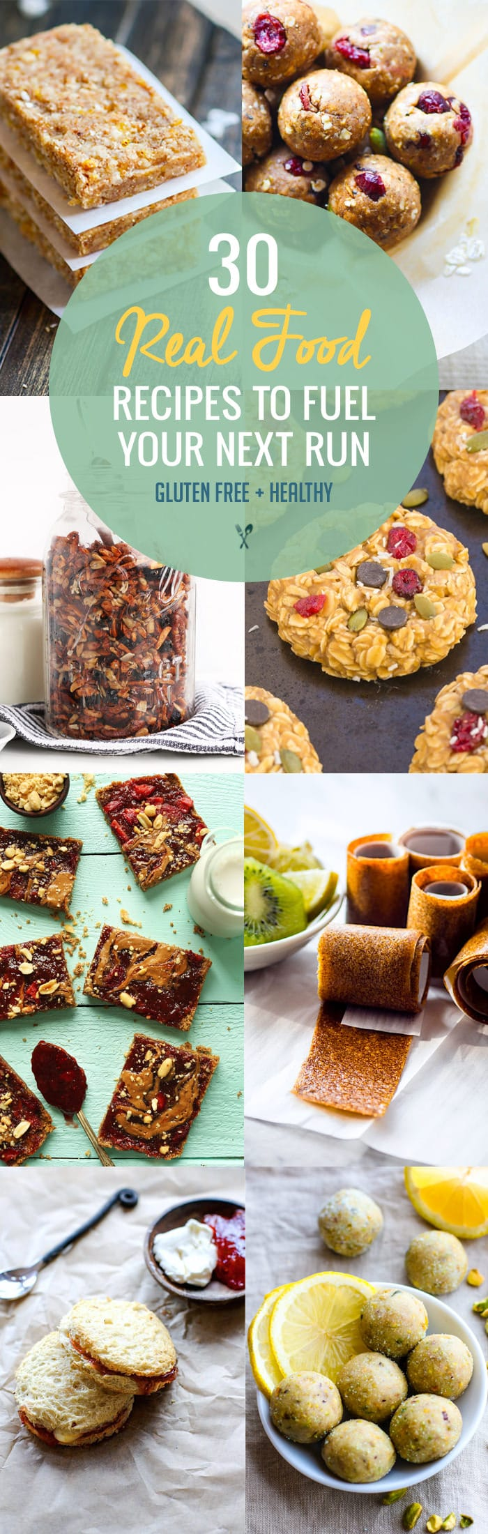 Skip the packaged food and try these 30 Real Food Gluten Free Recipes to Fuel Your Next Run or Workout! Natural energy to fuel you for a run or even sustain you after! Gluten free recipes that are healthy, easy to make, homemade, and delicious.