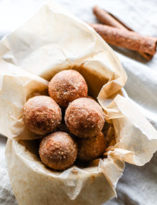 Cinnamon Vanilla Breakfast Protein Bites {No Bake, Vegan Friendly}