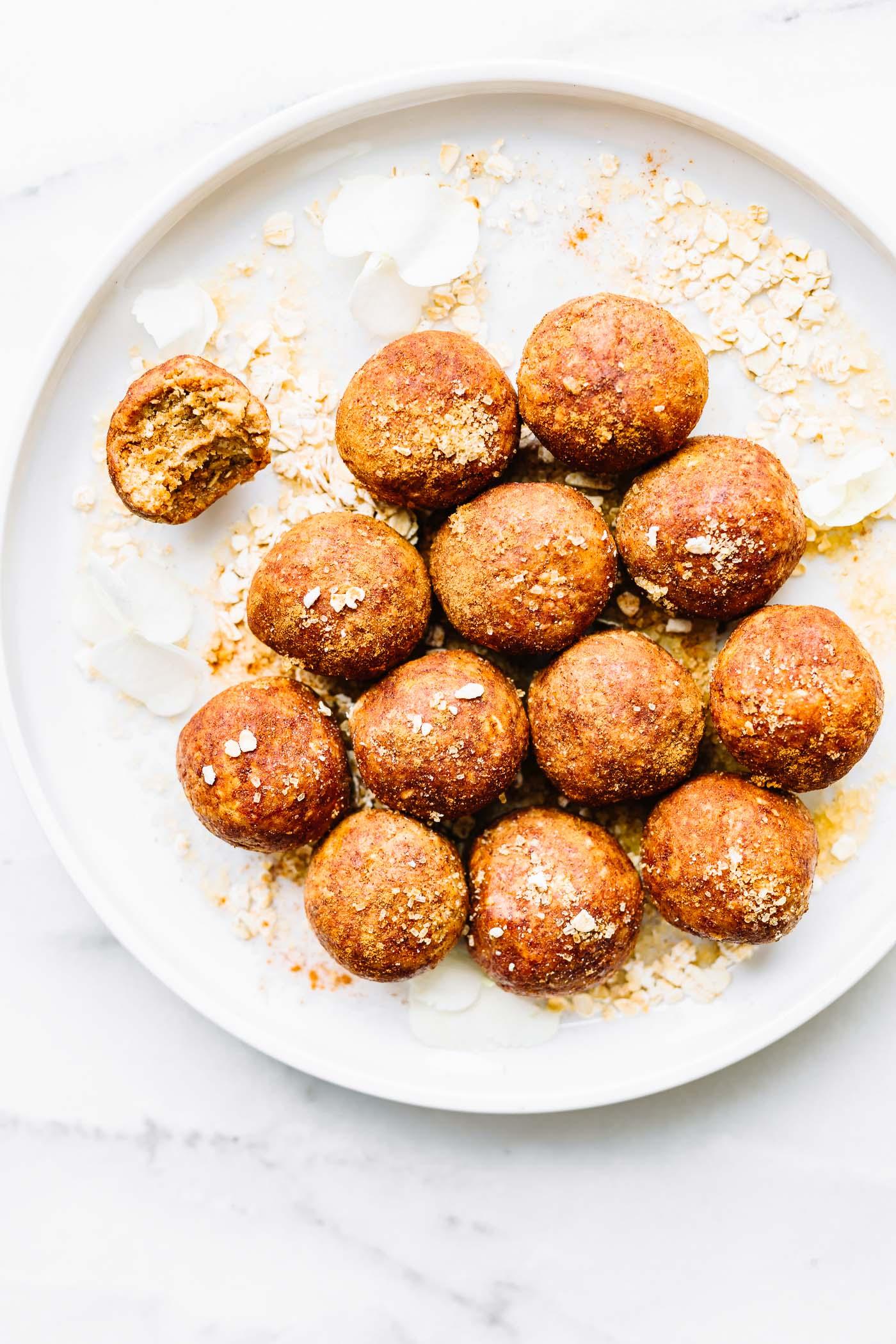 breakfast bites on plate- no bake