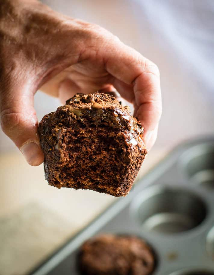 SO delicious Healthy Mexican Chocolate Gluten Free Muffins! Superfood Mexican Chocolate made even healthier and in a vegan and gluten free muffin form! Rich flavors but lightly sweet and packed with nourishment. Great for breakfast, brunch, or anytime!