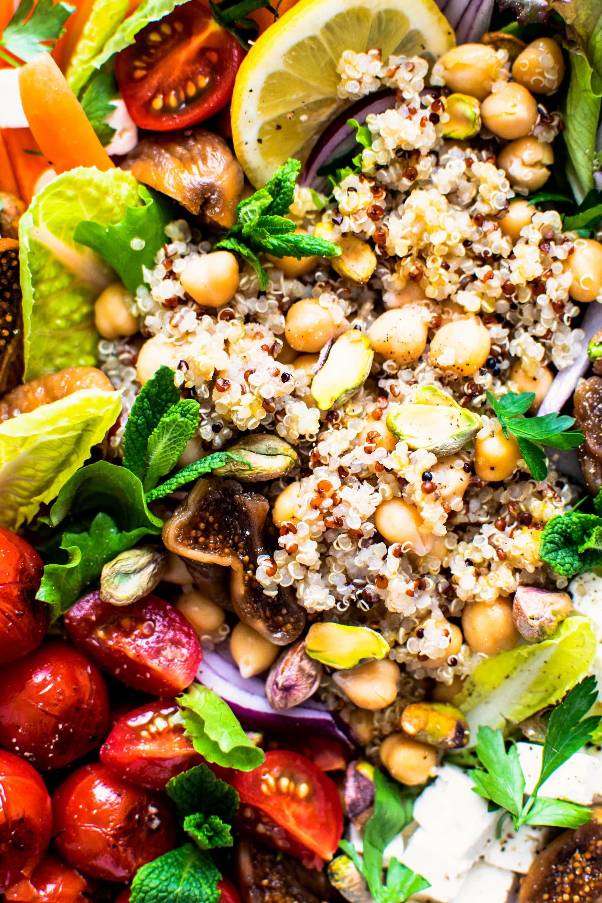 quinoa chickpea salad