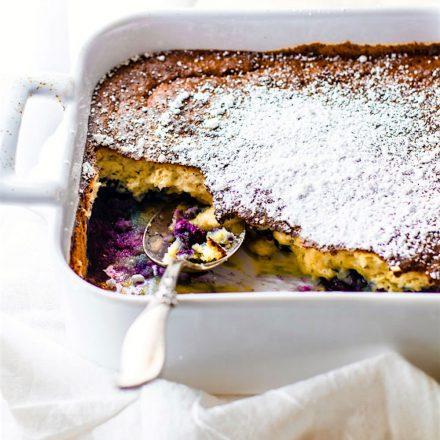 Paleo Blueberry Coconut Soufflé Bake!