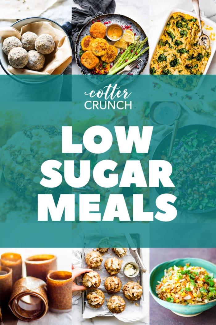 low sugar gluten free meal plan photo collage