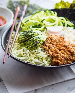 Healthy Spicy Avocado Tuna Salad Sushi Bowls {Low Mercury}