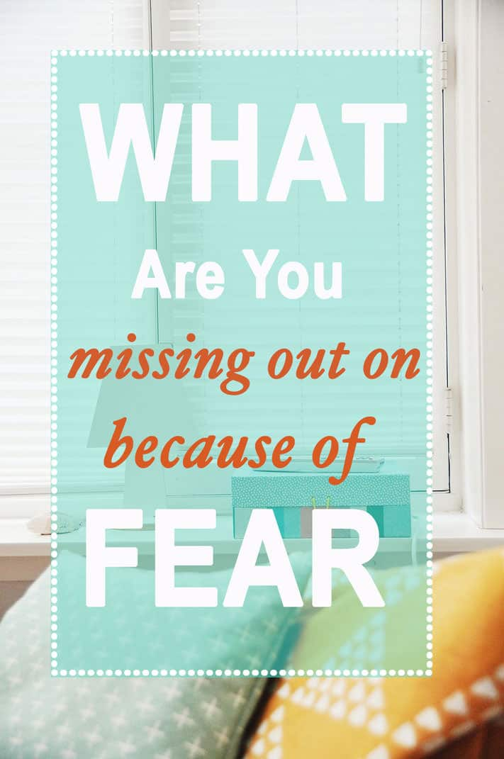 What Are You Missing (out on) Because of Fear? Because of FEAR we can sometimes miss out on ... well.. US! Our true self. Our God given gifts. Our life's purpose. Let's fear less and live more!