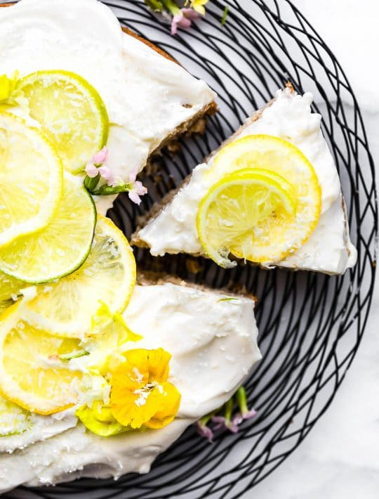 vegan lime coconut cake GF-6
