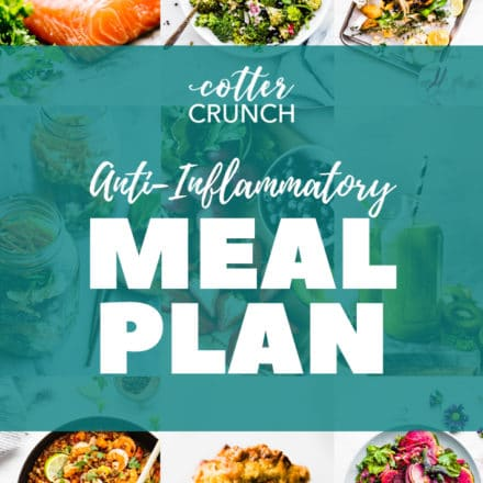 anti-inflammatory gluten free meal plan photo collage