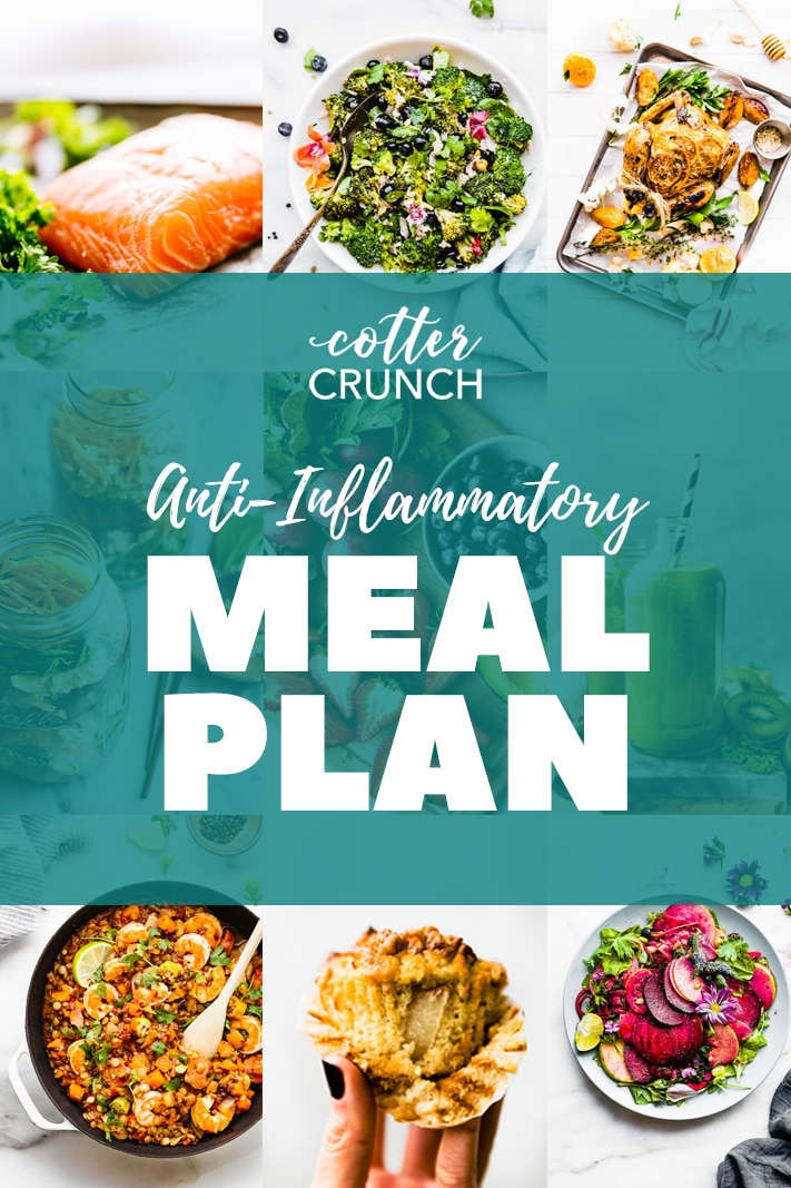 anti-inflammatory gluten free meal plan photo collage