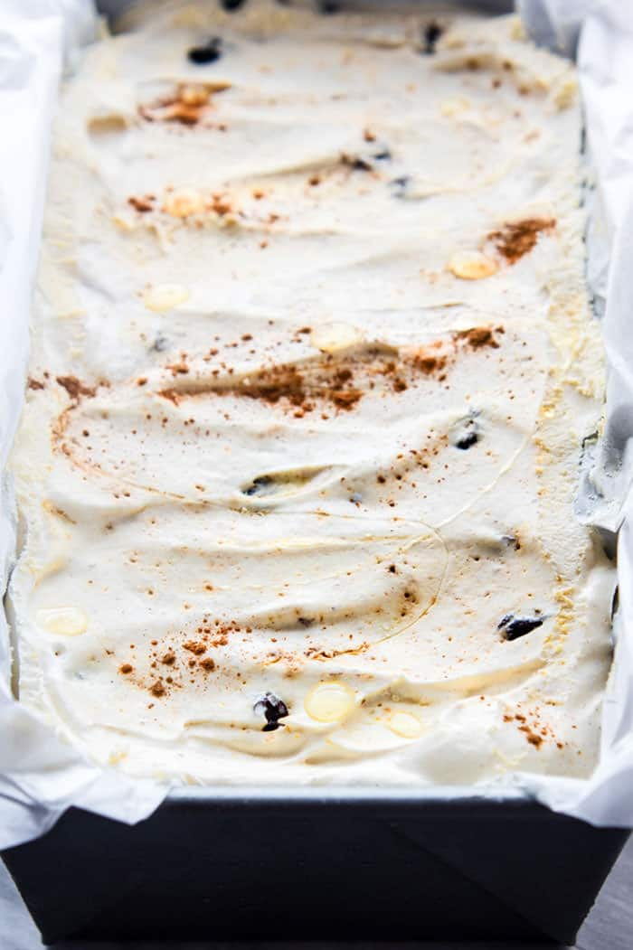 homemade dairy free no churn rum raisin ice cream