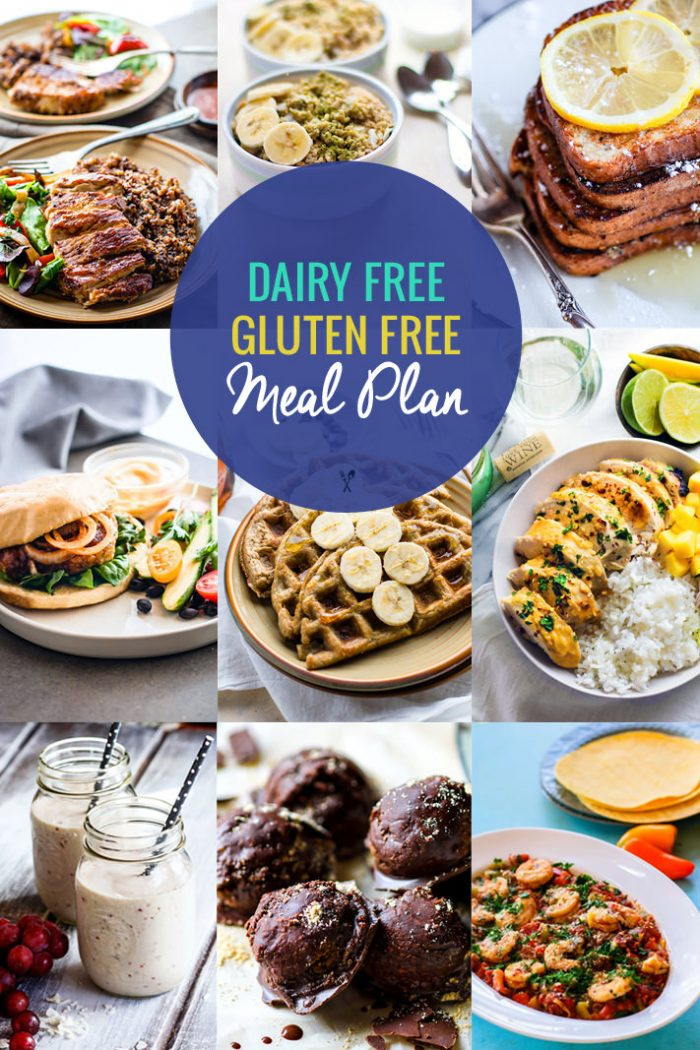 Healthy Dairy Free, Gluten-Free Meal Plan Recipes | Cotter