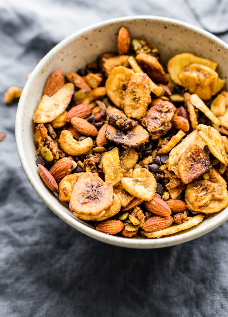 bowl of paleo chunky monkey trail mix