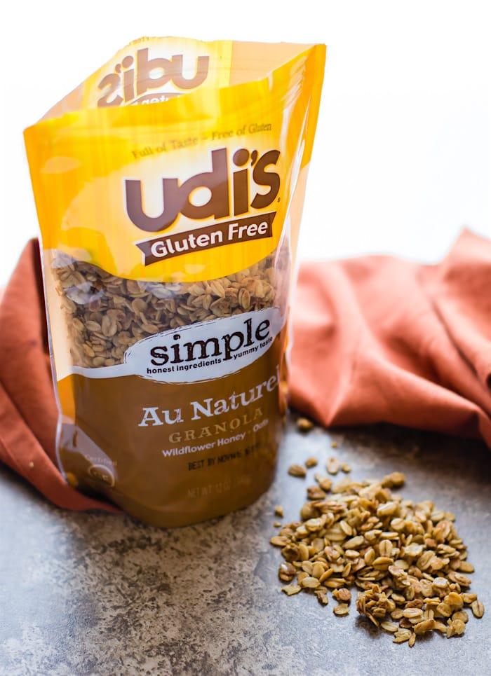 udis au natural gluten free granola (parfait dessert bowls). Dairy free, healthy, delicious @udisglutenfree