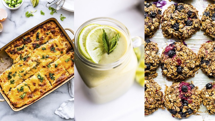 photo collage shows meal plan for kids with gluten-free, hidden vegetable recipes
