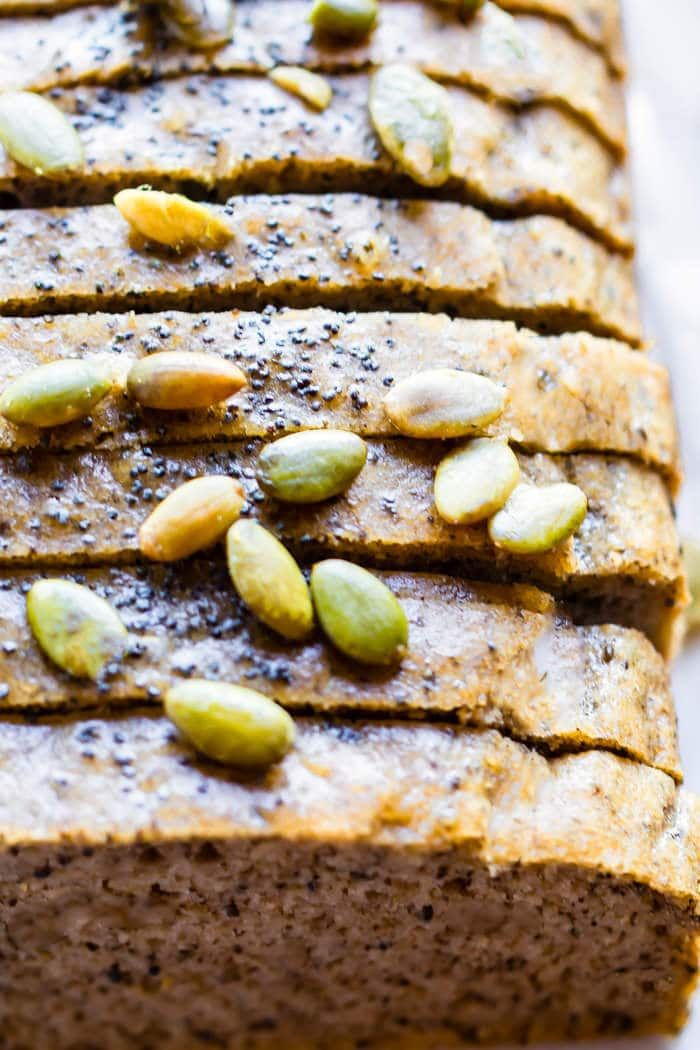 Homemade Nut and Seed Paleo Bread. Finally, a homemade paleo bread that is soft, easy to make, and great for sandwiches. This wholesome nutty bread is freezable and low carb! A grain free bread to enjoy at each meal.