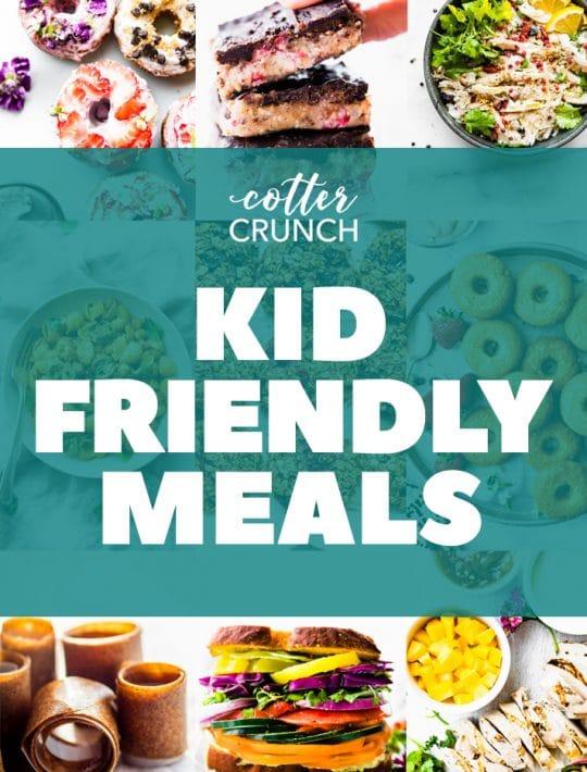 kid friendly gluten free meal plan photo collage