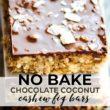 No Bake Chocolate Coconut Cashew Fig Bars pin