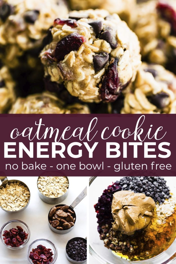 oatmeal cookie bites pin