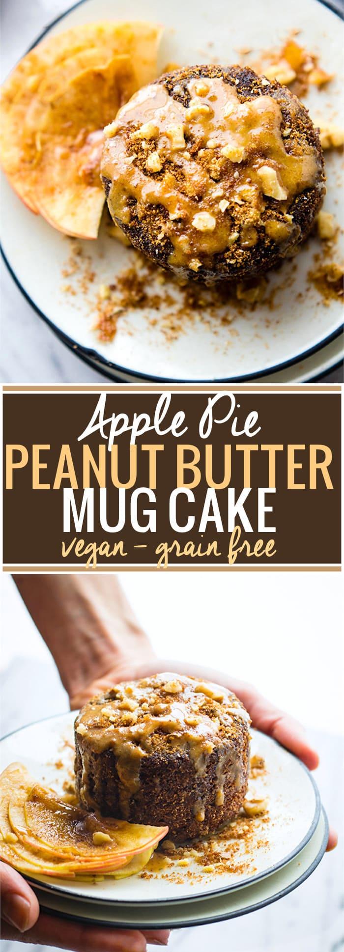 Apple Pie Peanut Butter Mug Cake Vegan Grain Free