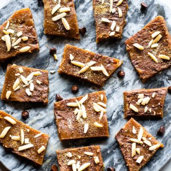 platter of paleo and gluten free maple candy toffee
