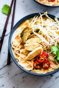 Spicy Almond Chicken Pho {Gluten Free}