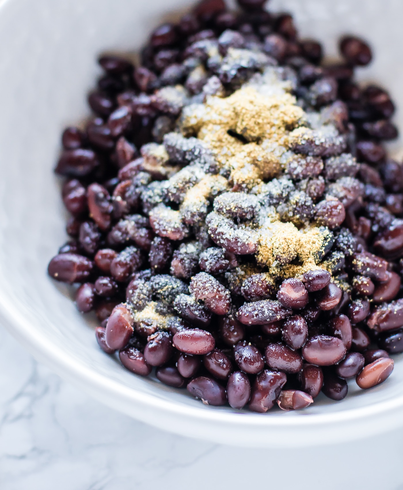black beans with southwest spices