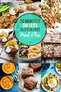 Gluten Free Meal Plan – 30 Minute Meals