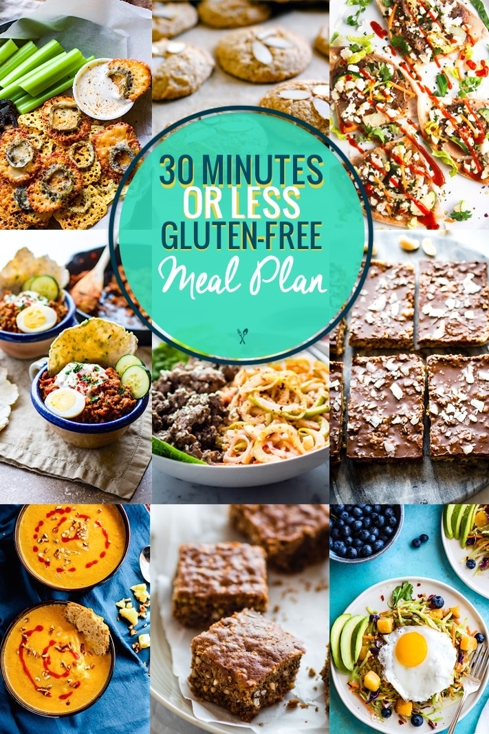 30 Minute Meals Gluten Free Meal Plan photo collage