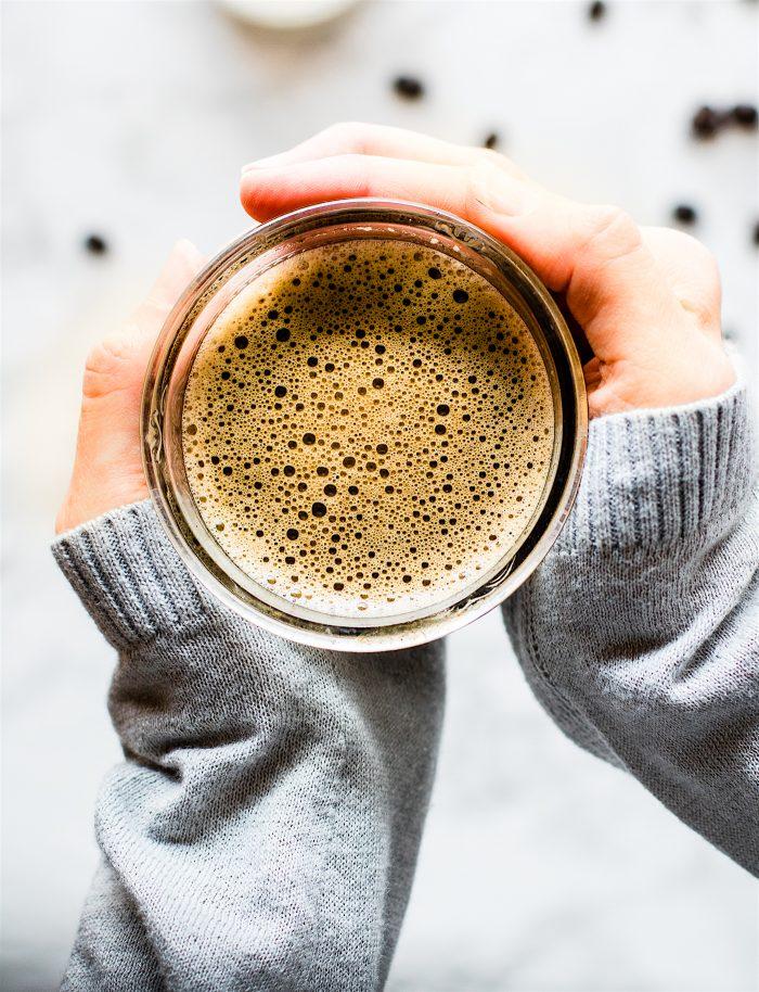 mug of hazelnut Turkish coffee