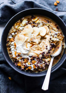 Vegan Dirty Chai Detox Breakfast Bowls