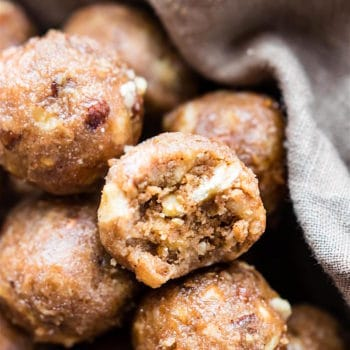 Dairy Free Banana Bread Bites infused with bourbon