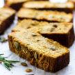 savory paleo pumpkin bread with rosemary
