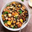 Tumeric Roasted Carrot Chickpea Salad