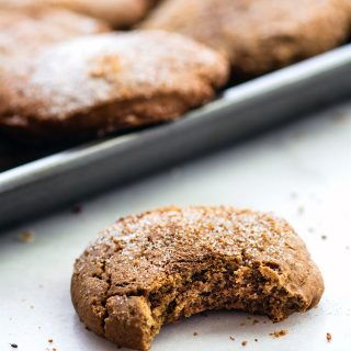 Gluten free holiday baking recipes are here! Gluten free brown butter snickerdoodles are easy to make. An egg free Christmas cookie with simple ingredients.