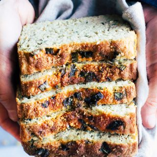 The best homemade gluten free potato bread with onion and herbs.