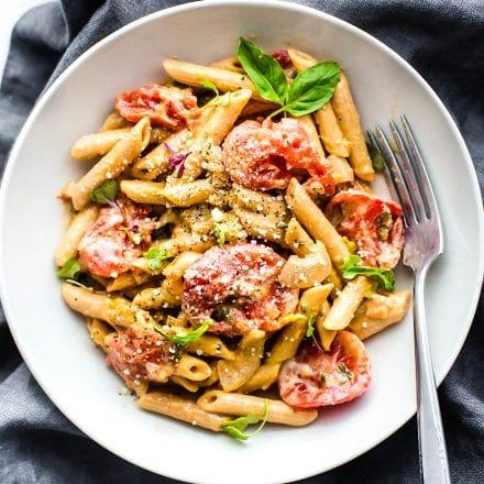 gluten free pasta recipe made with gluten free penne pasta